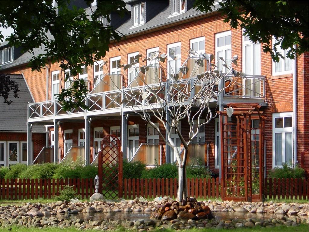 Bio-Hotel Miramar, Außenansicht, Tönning, Eiderstedt, Asuzeit