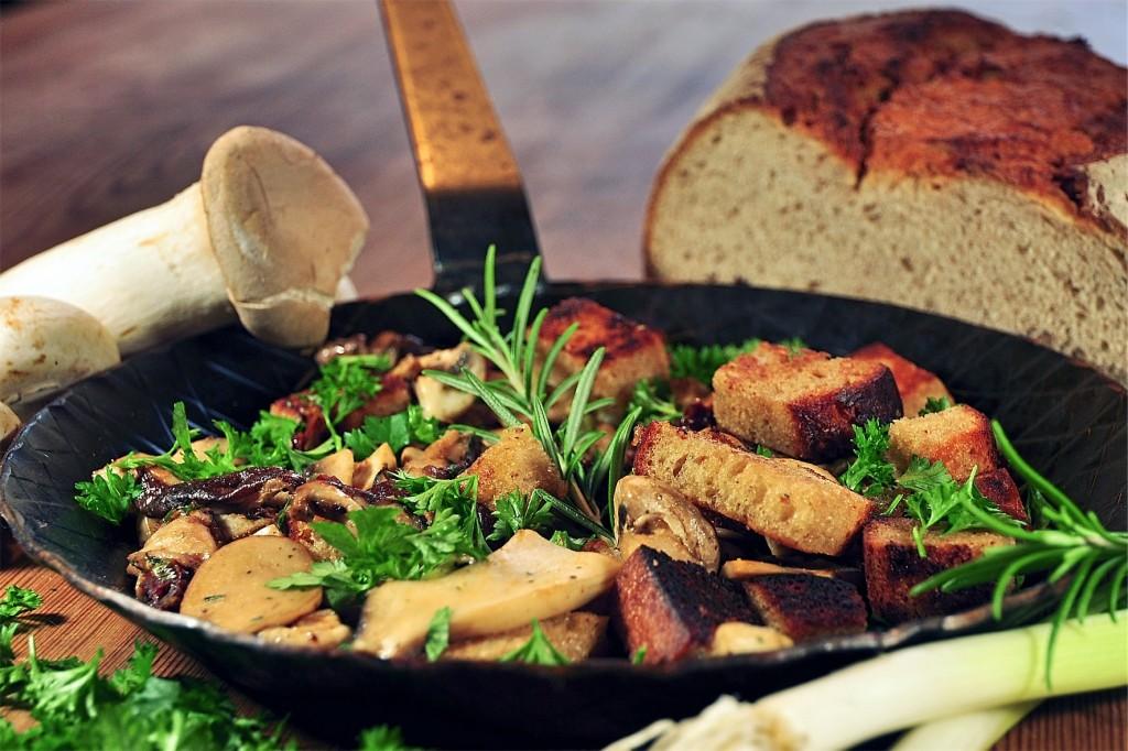 Rezept: Brot-Pilzpfanne vom Kalle-Bäcker; Foto: Dr. Katrin Schäfer