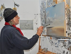 Ulf Petermann im Atelier