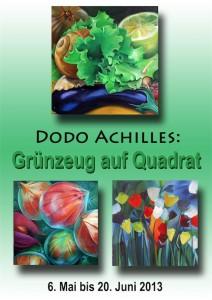 Plakat Dodo Achilles, Bio-Hotel Miramar, Grünzeug auf Quadrat